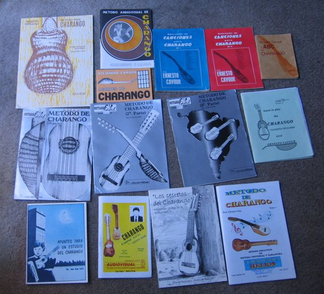 Photos of Old Charango Method Books