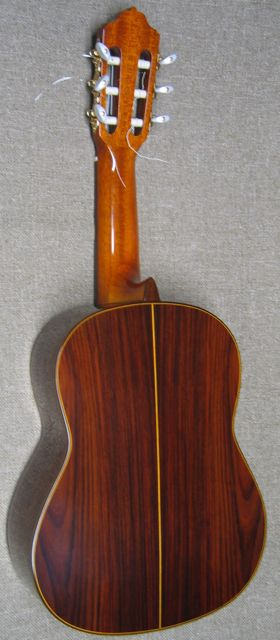 Photo of back of Esteve Octave Guitar