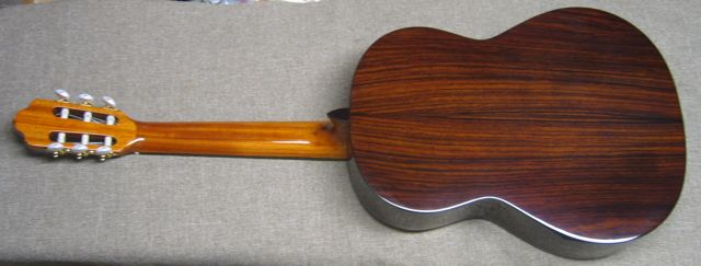Photo of back of R.Fernandez 70 Guitar