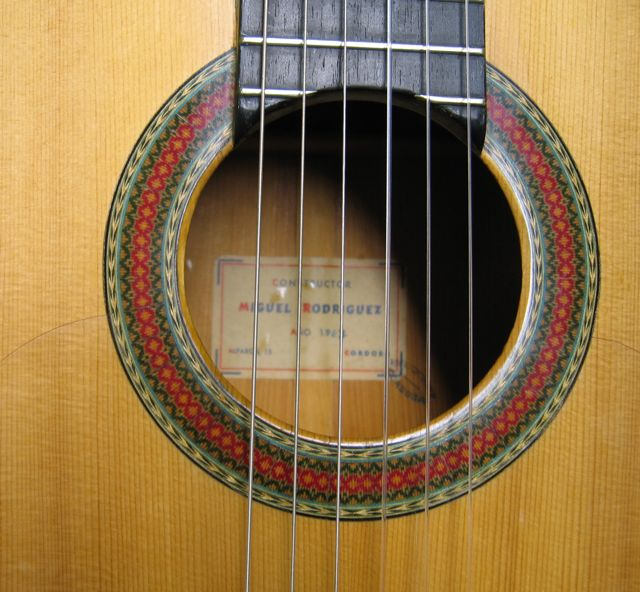 Rosette of 1967 Miguel Rodriguez Flamenco Guitar